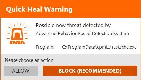 quick-heal-advanced-behavior-based-detection-prompt